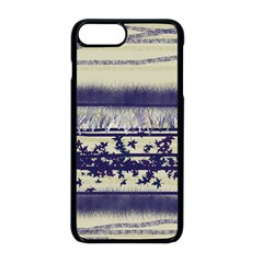 Abstract Beige Blue Lines Apple Iphone 8 Plus Seamless Case (black)
