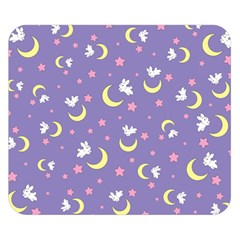 Rabbit Of The Moon Double Sided Flano Blanket (small)