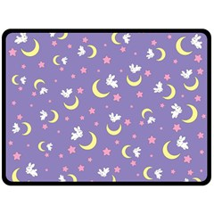 Rabbit Of The Moon Double Sided Fleece Blanket (large)