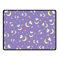 Rabbit Of The Moon Double Sided Fleece Blanket (small)
