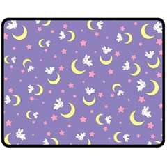 Rabbit Of The Moon Fleece Blanket (medium)