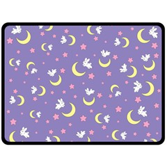 Rabbit Of The Moon Fleece Blanket (extra Large)
