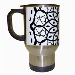 Textura Model Texture Design Lines Travel Mugs (white) by Simbadda