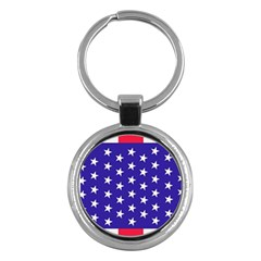 Day Independence July Background Key Chains (round)  by Simbadda