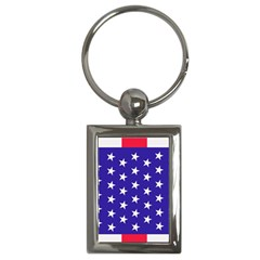 Day Independence July Background Key Chains (rectangle)  by Simbadda
