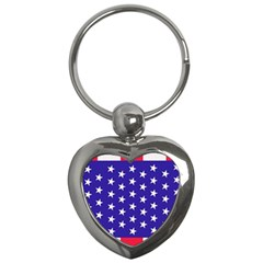 Day Independence July Background Key Chains (heart)  by Simbadda