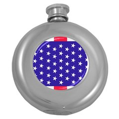Day Independence July Background Round Hip Flask (5 Oz) by Simbadda