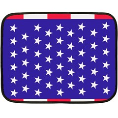 Day Independence July Background Double Sided Fleece Blanket (mini)  by Simbadda