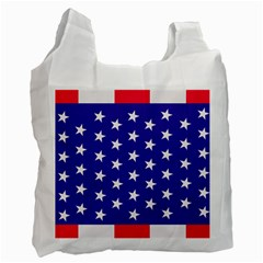 Day Independence July Background Recycle Bag (one Side) by Simbadda
