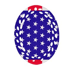 Day Independence July Background Ornament (oval Filigree)