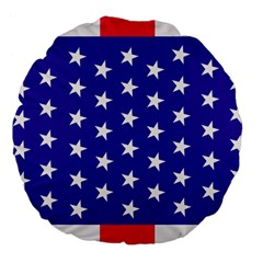 Day Independence July Background Large 18  Premium Flano Round Cushions