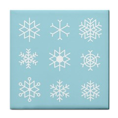 Snowflakes Winter Graphics Weather Tile Coasters