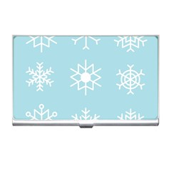 Snowflakes Winter Graphics Weather Business Card Holder by Simbadda