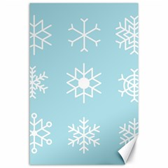 Snowflakes Winter Graphics Weather Canvas 24  X 36  by Simbadda
