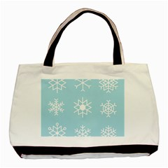 Snowflakes Winter Graphics Weather Basic Tote Bag (two Sides)