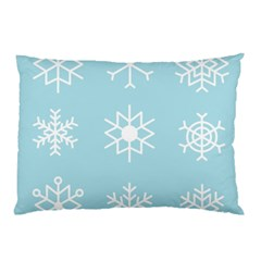 Snowflakes Winter Graphics Weather Pillow Case