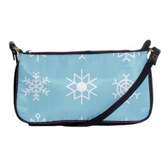 Snowflakes Winter Graphics Weather Shoulder Clutch Bag