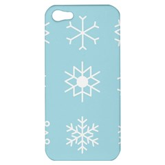 Snowflakes Winter Graphics Weather Apple Iphone 5 Hardshell Case