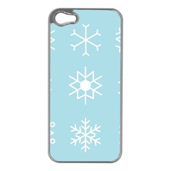 Snowflakes Winter Graphics Weather Apple Iphone 5 Case (silver)