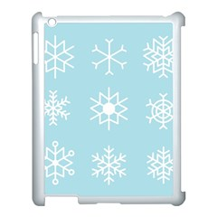 Snowflakes Winter Graphics Weather Apple Ipad 3/4 Case (white) by Simbadda