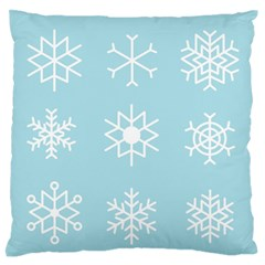 Snowflakes Winter Graphics Weather Standard Flano Cushion Case (one Side)