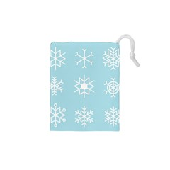Snowflakes Winter Graphics Weather Drawstring Pouch (xs)