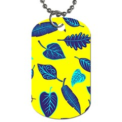 Leaves Pattern Picture Detail Dog Tag (one Side)