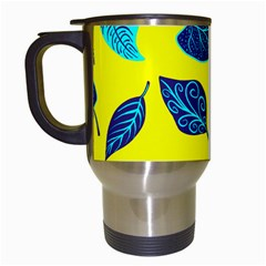 Leaves Pattern Picture Detail Travel Mugs (white) by Simbadda