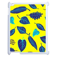 Leaves Pattern Picture Detail Apple Ipad 2 Case (white) by Simbadda