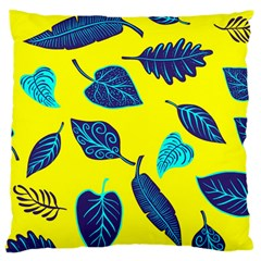 Leaves Pattern Picture Detail Large Cushion Case (two Sides)