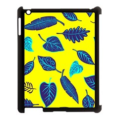 Leaves Pattern Picture Detail Apple Ipad 3/4 Case (black) by Simbadda