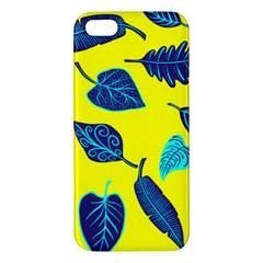 Leaves Pattern Picture Detail Apple Iphone 5 Premium Hardshell Case