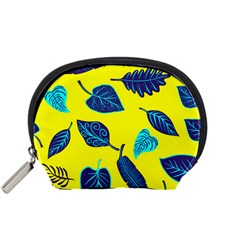 Leaves Pattern Picture Detail Accessory Pouch (small) by Simbadda