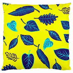Leaves Pattern Picture Detail Standard Flano Cushion Case (one Side)