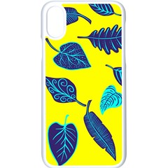 Leaves Pattern Picture Detail Apple Iphone X Seamless Case (white) by Simbadda