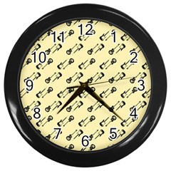 Guitar Guitars Music Instrument Wall Clock (black)