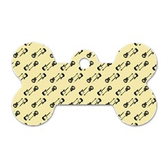 Guitar Guitars Music Instrument Dog Tag Bone (two Sides)