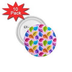 Colorful Leaves 1 75  Buttons (10 Pack) by vintage2030