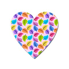Colorful Leaves Heart Magnet by vintage2030