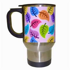 Colorful Leaves Travel Mugs (white) by vintage2030