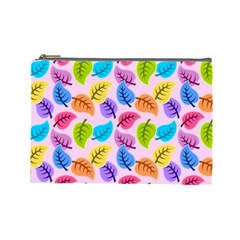 Colorful Leaves Cosmetic Bag (large) by vintage2030