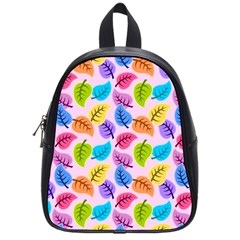 Colorful Leaves School Bag (small) by vintage2030