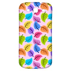 Colorful Leaves Samsung Galaxy S3 S Iii Classic Hardshell Back Case by vintage2030