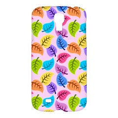 Colorful Leaves Samsung Galaxy S4 I9500/i9505 Hardshell Case by vintage2030