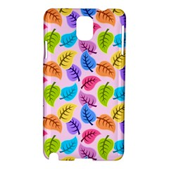 Colorful Leaves Samsung Galaxy Note 3 N9005 Hardshell Case by vintage2030