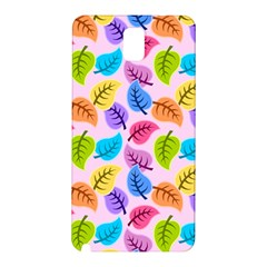 Colorful Leaves Samsung Galaxy Note 3 N9005 Hardshell Back Case by vintage2030