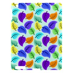Colorful Leaves Blue Apple Ipad 3/4 Hardshell Case by vintage2030