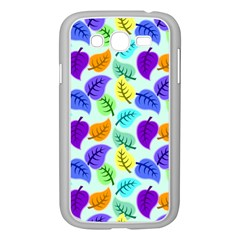 Colorful Leaves Blue Samsung Galaxy Grand Duos I9082 Case (white)