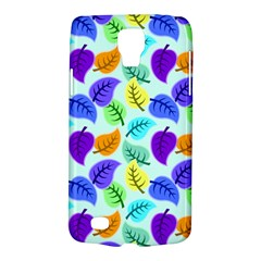 Colorful Leaves Blue Samsung Galaxy S4 Active (i9295) Hardshell Case by vintage2030