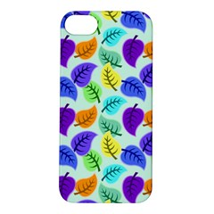 Colorful Leaves Blue Apple Iphone 5s/ Se Hardshell Case by vintage2030
